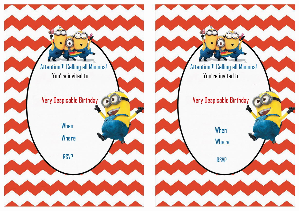 Despicable Me Birthday Invitations – Birthday Printable