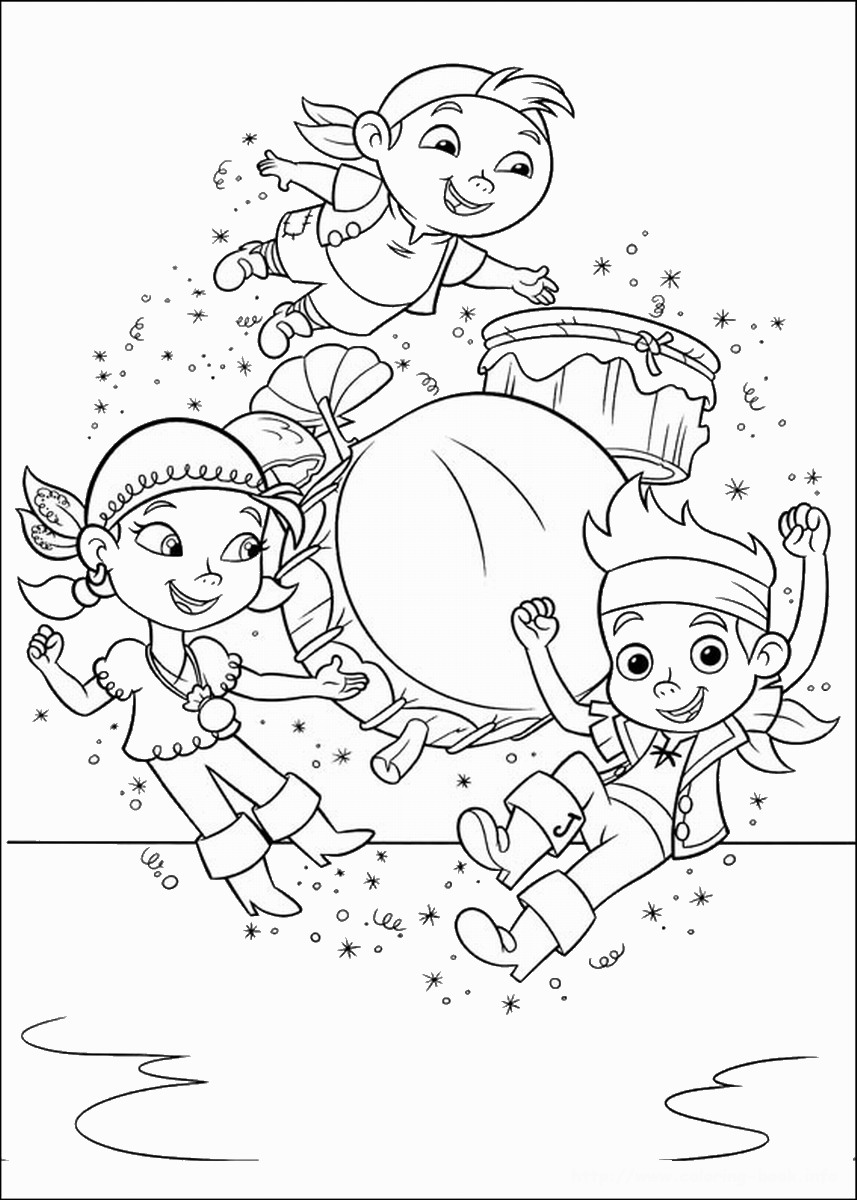pirate color page - jake and the never land pirates coloring pages birthday