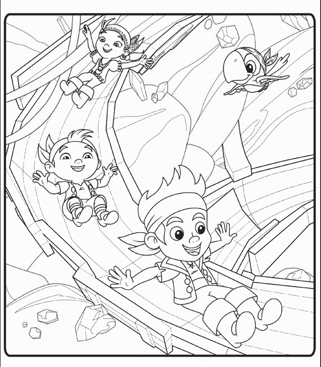 neverland pirates coloring pages jake and the never land pirates
