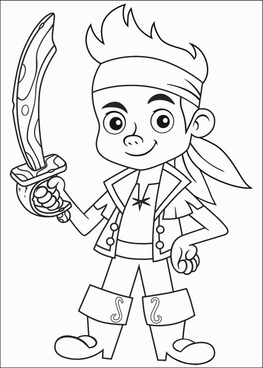 Coloring pages for jake and the neverland pirates - Jake And The Never Land Pirates Printable Coloring Pages