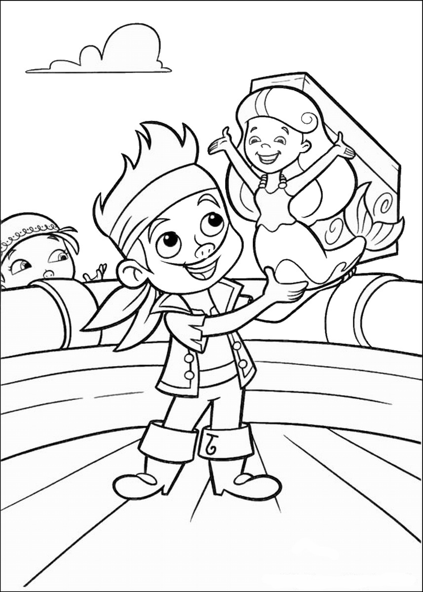 Jake and the Never Land Pirates Coloring Pages – Birthday