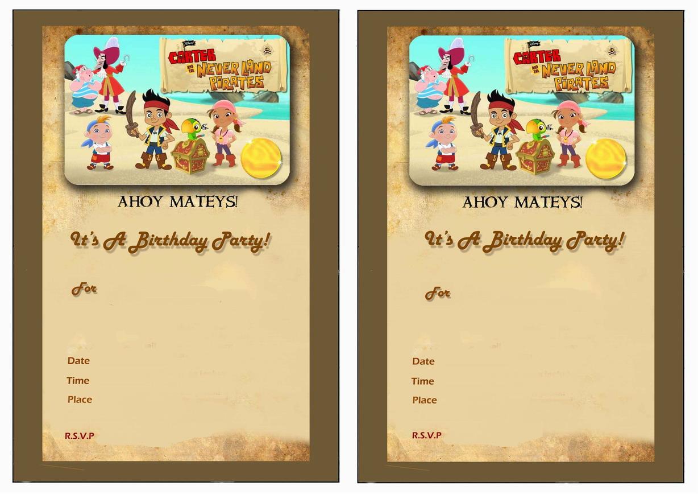Jake And The Never Land Pirates Birthday Invitations Birthday