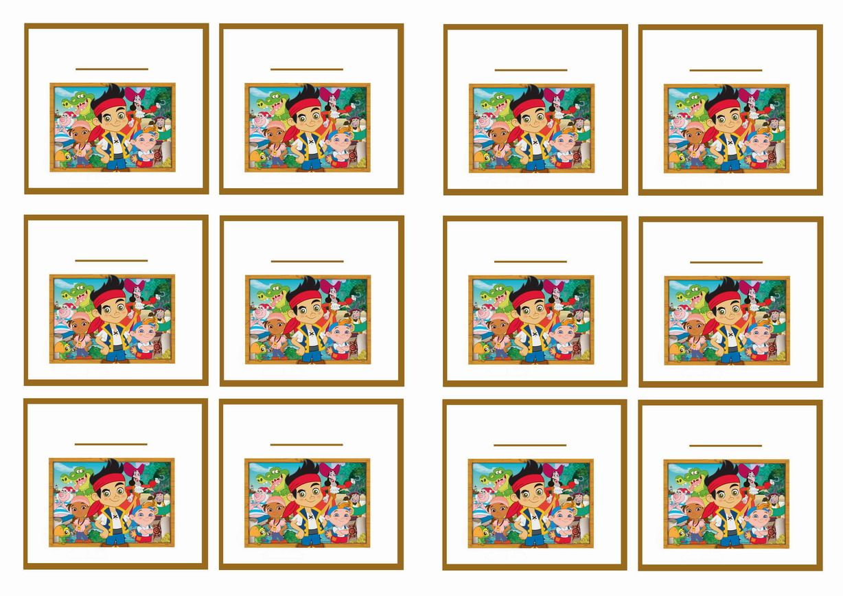 Printable coloring pages jake and the neverland pirates - Jake And The Never Land Pirates Name Tags Birthday By Theme Birthday Printables