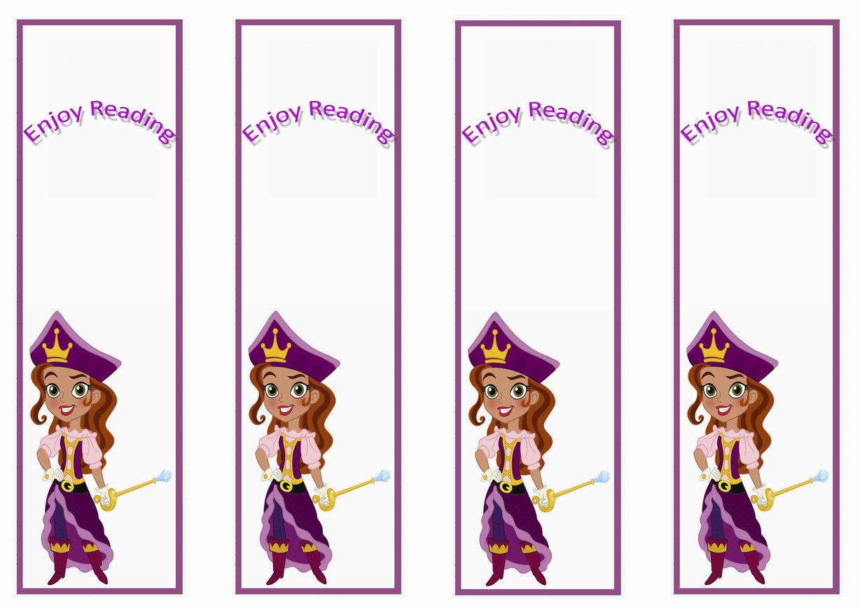 Jake And The Never Land Pirates Bookmarks Birthday Printable