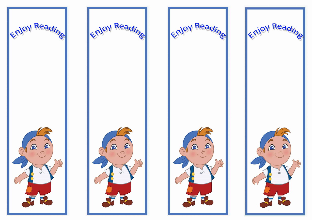 jake and the never land pirates bookmarks u2013 birthday printable