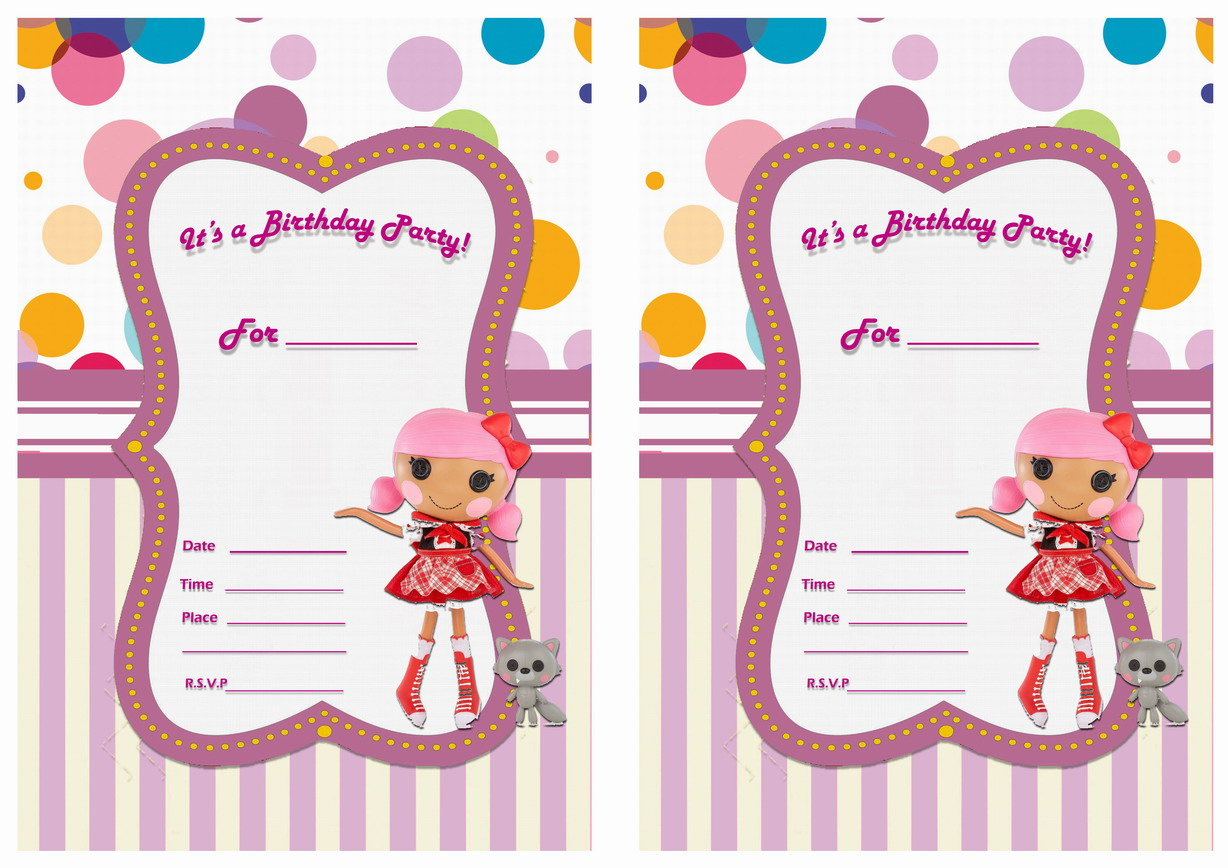 Lalaloopsy Birthday Invitations – Birthday Printable