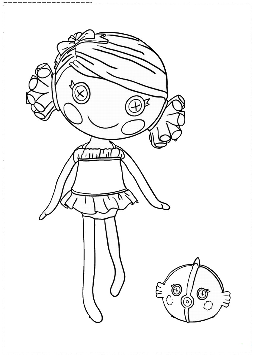 Lalaloopsy Coloring Pages – Birthday Printable