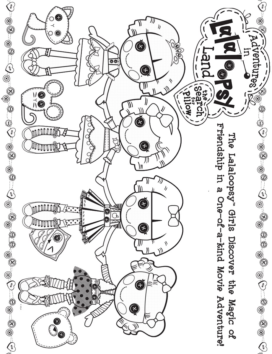 Lalaloopsy coloring pages printable - More From My Site Lalaloopsy Birthday Invitations Lalaloopsy Doorhangers Care Bears Coloring Pages
