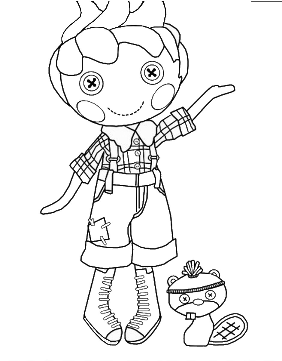 Lalaloopsy Coloring Pages Birthday