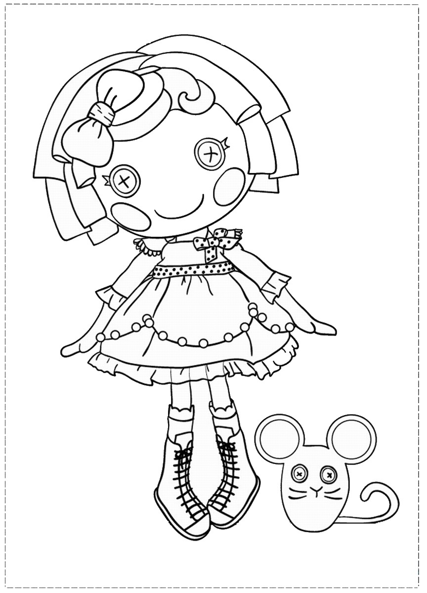 Lalaloopsy Coloring Pages Birthday Printable