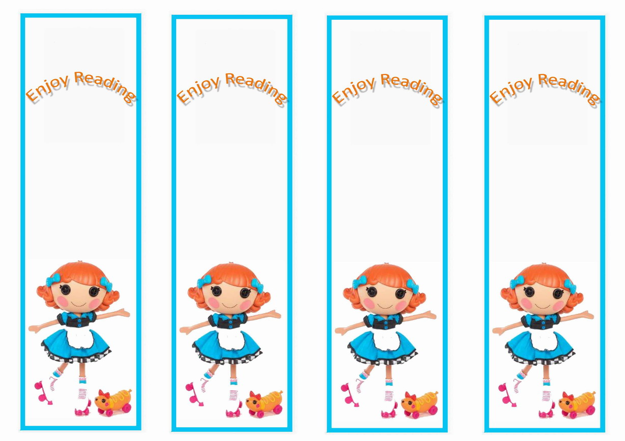 Lalaloopsy Bookmarks – Birthday Printable