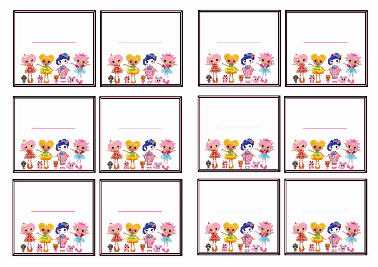 Lalaloopsy Name Tags – Birthday Printable