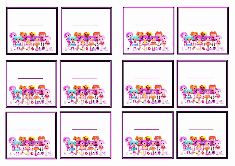Lalaloopsy Name Tags – Birthday Printable