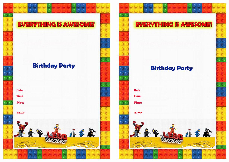 The Lego Movie Birthday Invitations – Birthday Printable