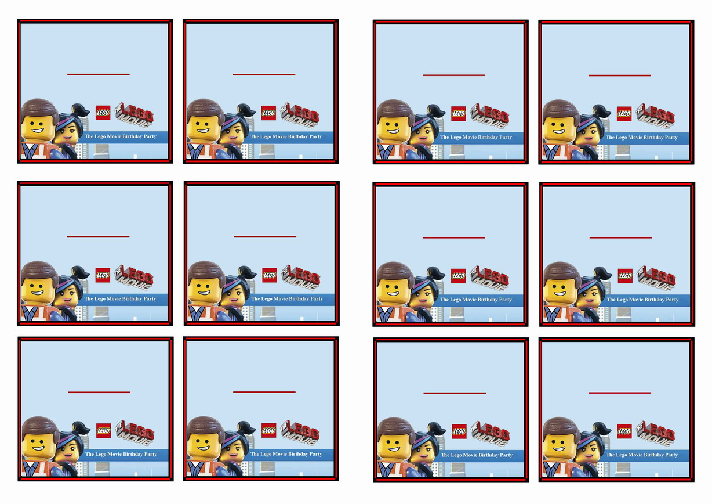 The Lego Movie Name Tags Birthday Printable