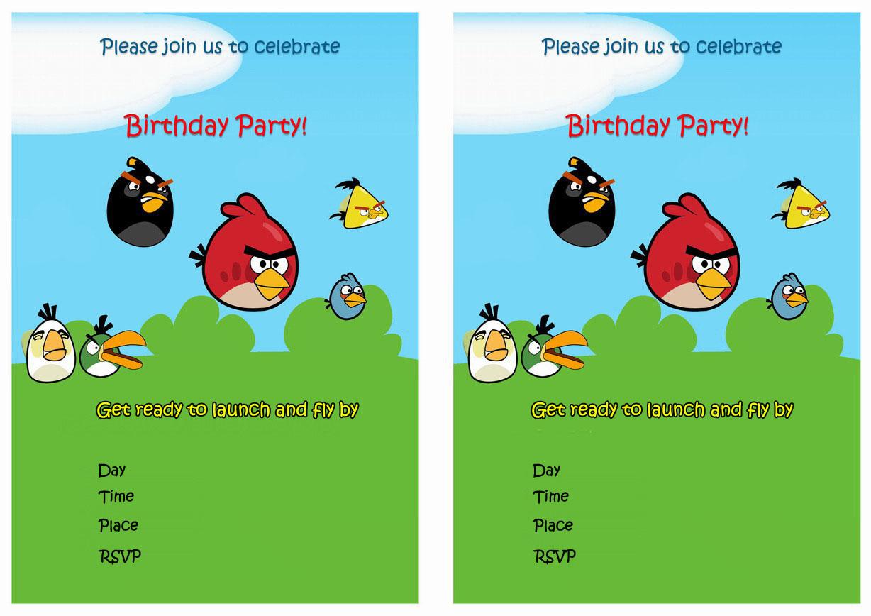 Angry Birds Birthday Invitations – Birthday Printable