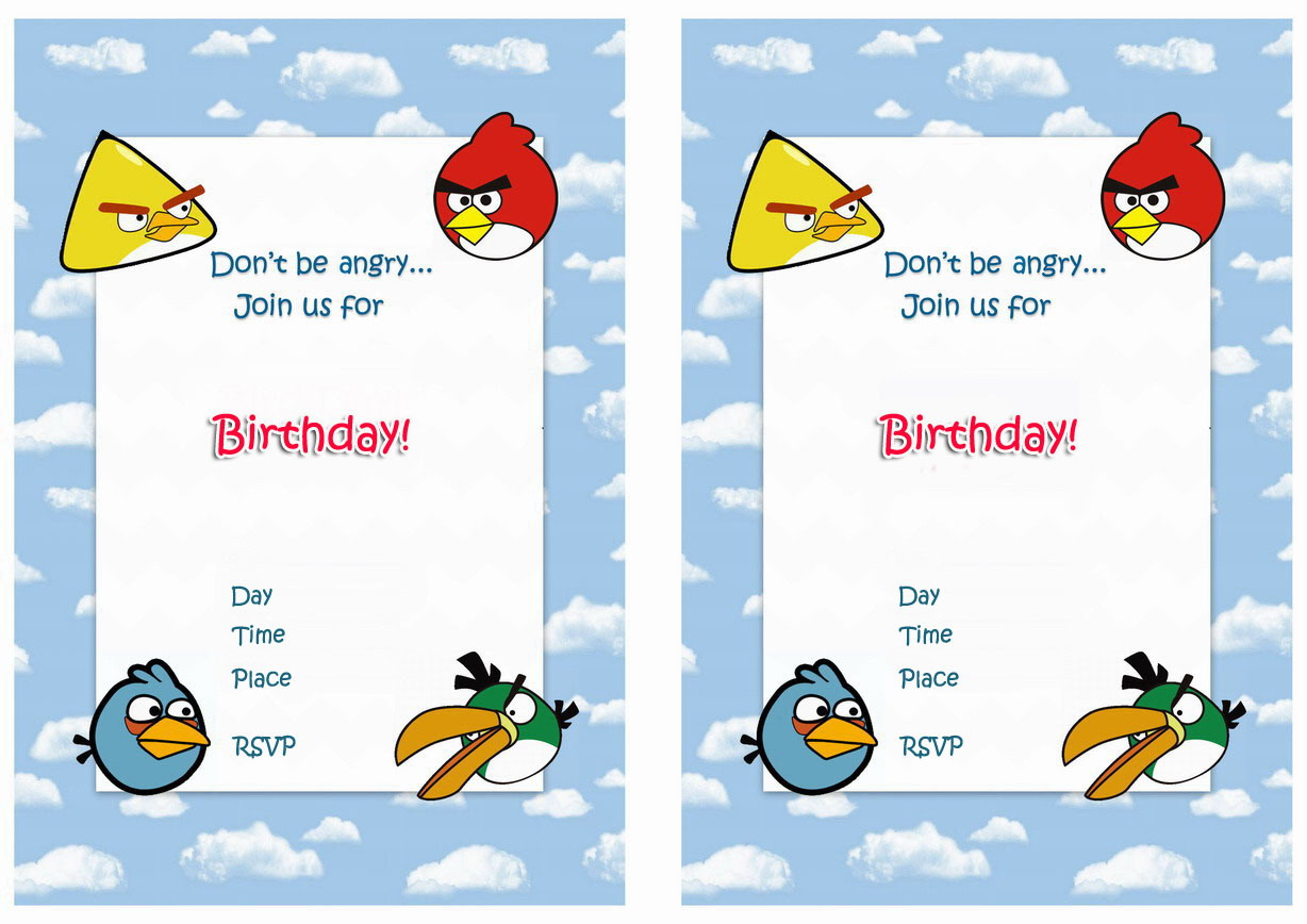 Angry birds birthday invitations birthday printable angry birds birthday printable invitations click image below to enlarge and print filmwisefo Choice Image