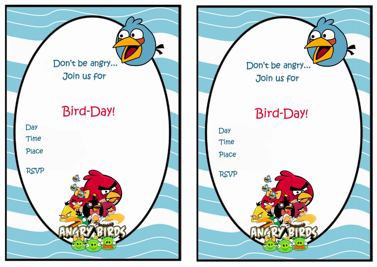 Angry Birds Birthday Invitations Birthday Printable