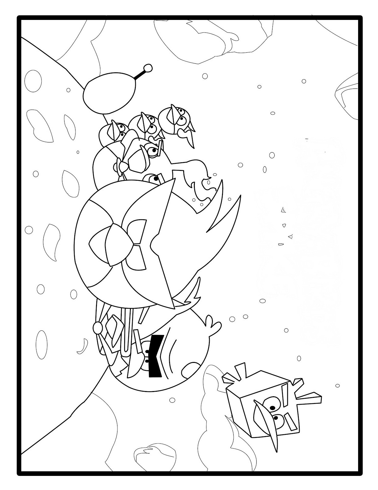 Angry Birds Coloring Pages Birthday