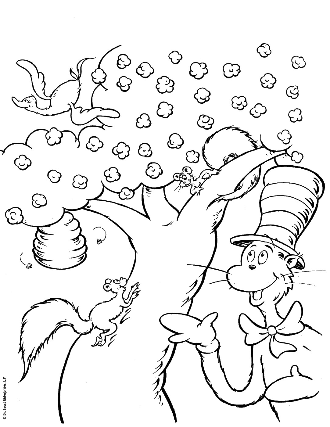 Dr Seuss Printable Coloring Pages Top Free