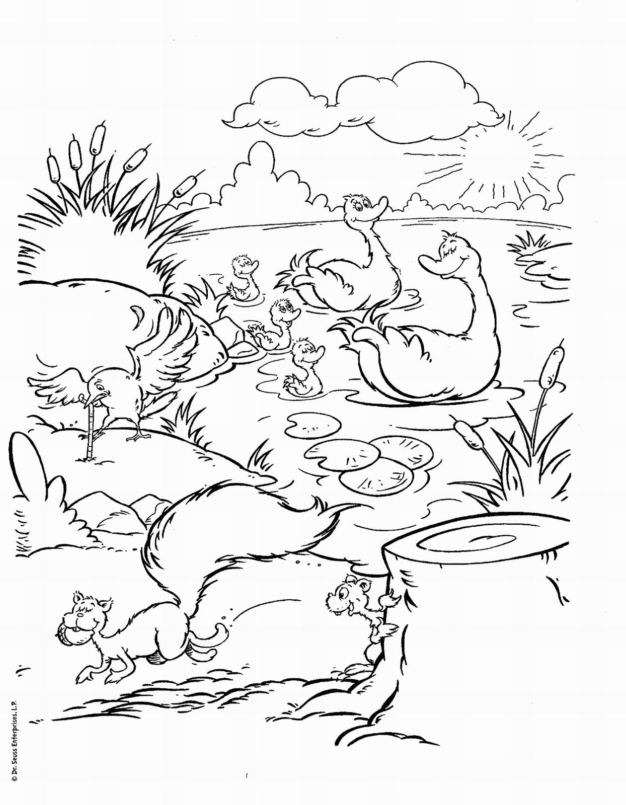 dr seuss printable coloring pages - Dr Seuss Printable Coloring Pages