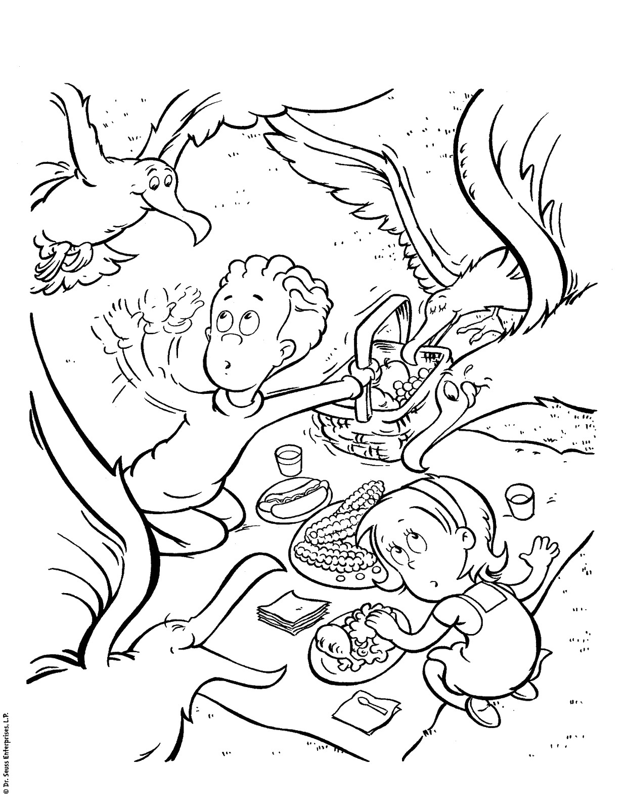 Printable Coloring Pages Dr Seuss
