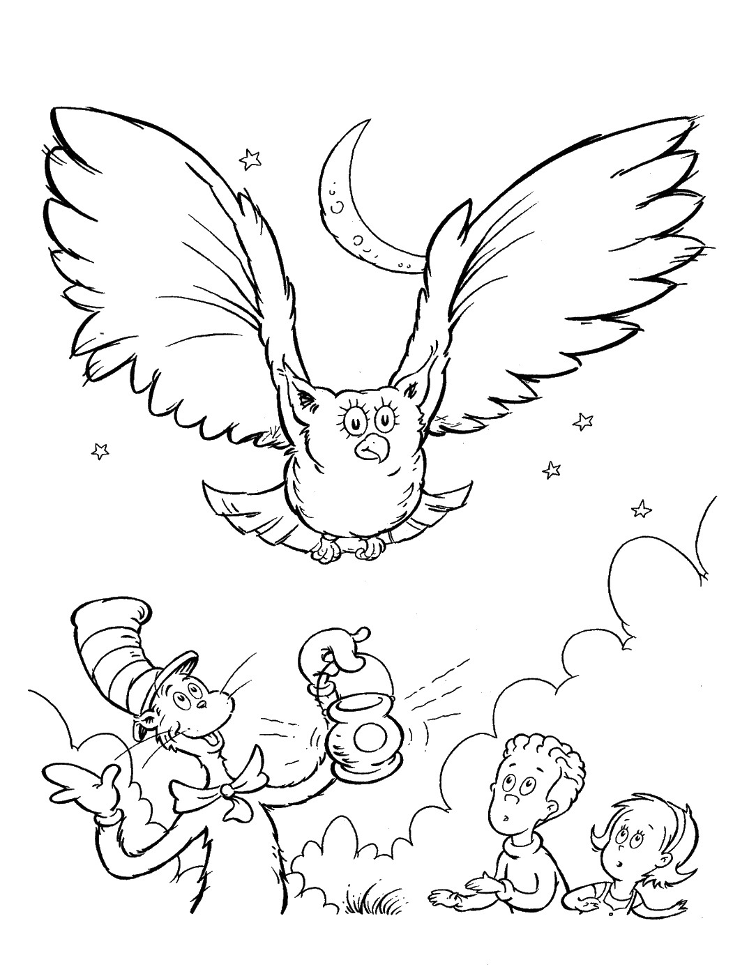 Dr Seuss Coloring Pages Birthday