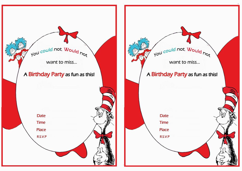 dr. seuss birthday invitations  birthday printable, Birthday invitations