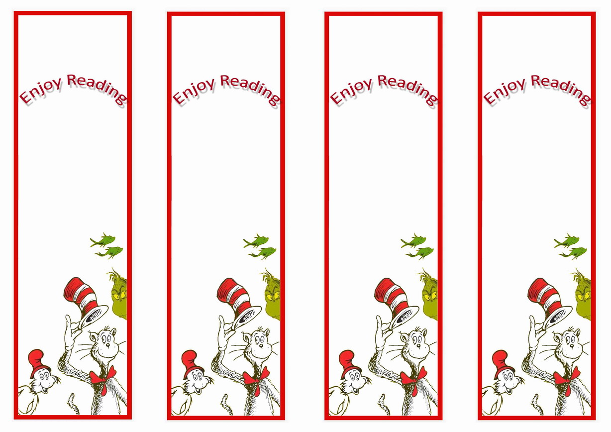 graphic about Dr Seuss Bookmarks Printable identify Dr. Seuss Bookmarkds Birthday Printable