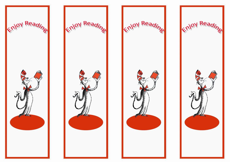 Dr. Seuss Bookmarkds – Birthday Printable
