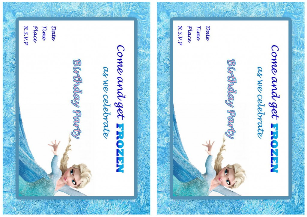 frozen birthday invitations  u2013 birthday printable