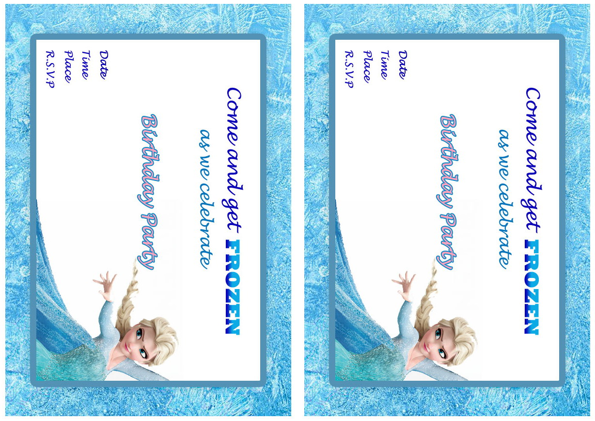 Frozen Birthday Invitations – Birthday Printable