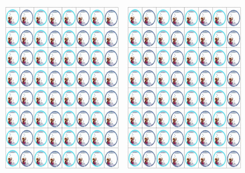 Frozen Printable Birthday Stickers