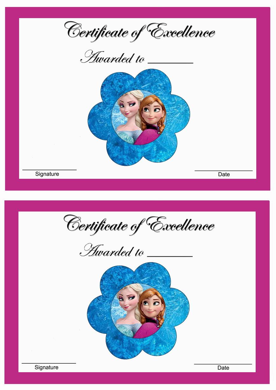 Frozen Awards Birthday Printable