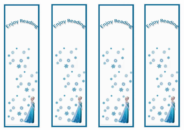 Frozen Bookmarks Printable Free