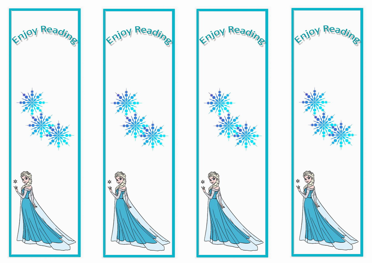 Frozen Bookmarks Birthday Printable