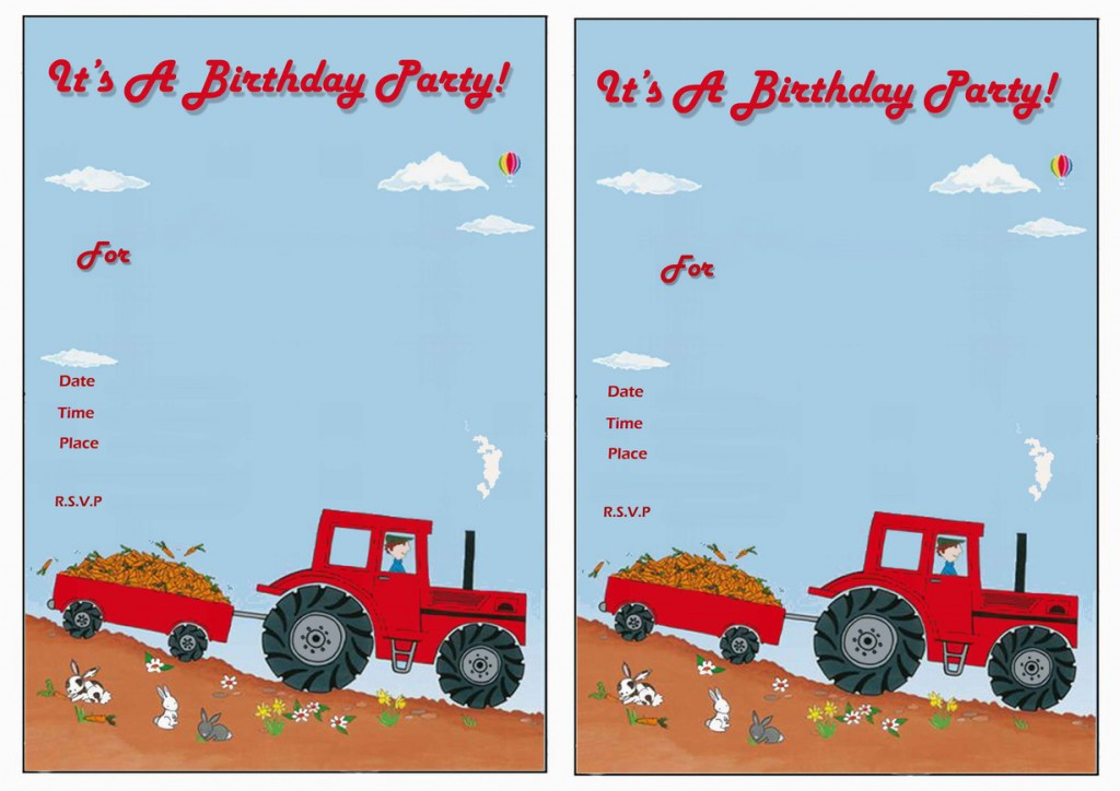 John Deere Birthday Invitations