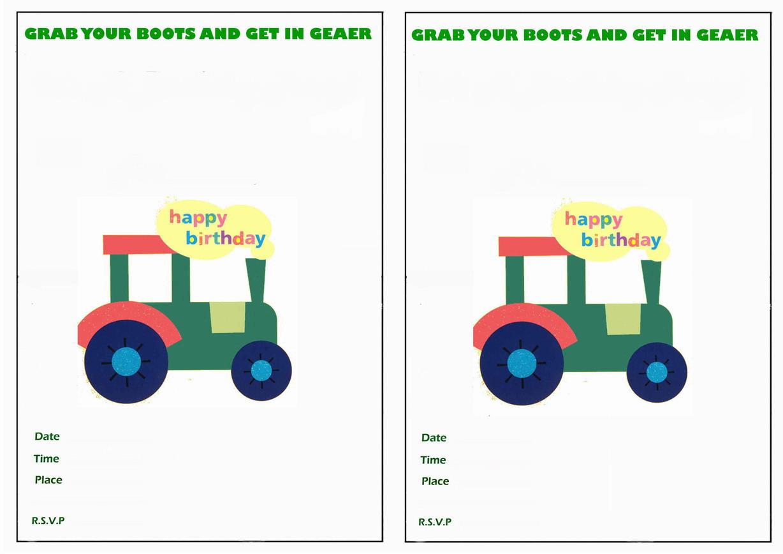 John Deere Birthday Invitations Birthday Printable – John Deere Printable Birthday Invitations