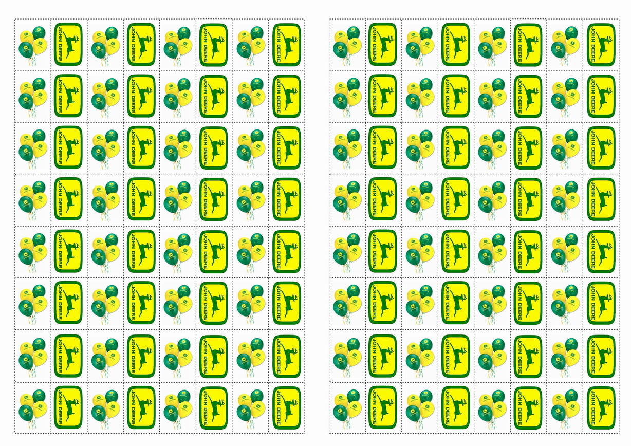 John Deere Stickers Birthday Printable