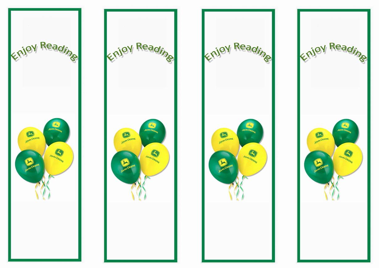 Free coloring pages john deere - John Deere Bookmarks Birthday By Theme Birthday Printables