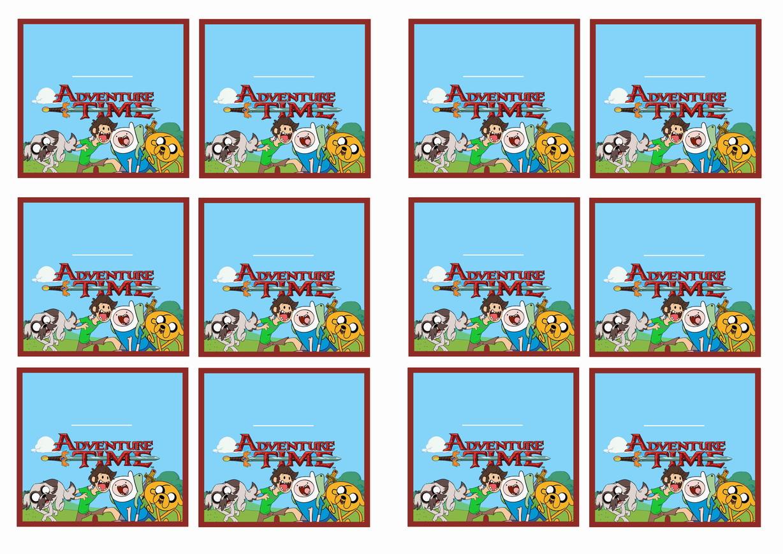 Adventure Time Name Tags – Birthday Printable