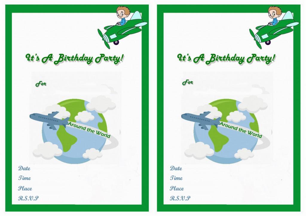 Around The World Birthday Invitations Birthday Printable