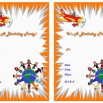 Around the World Birthday Invitations
