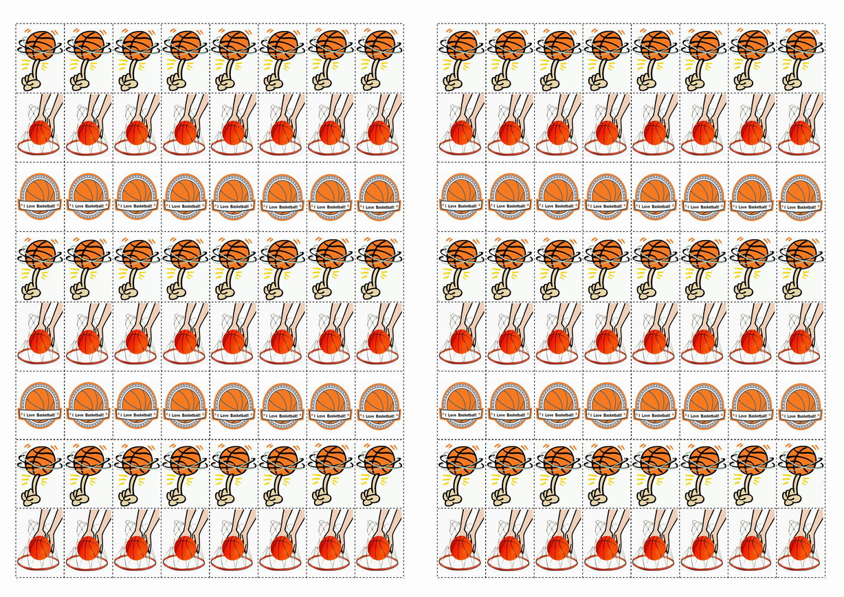 Basketball Stickers Birthday Printable