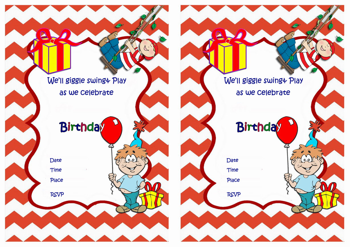 Invitations by Theme – Page 2 – Birthday Printable