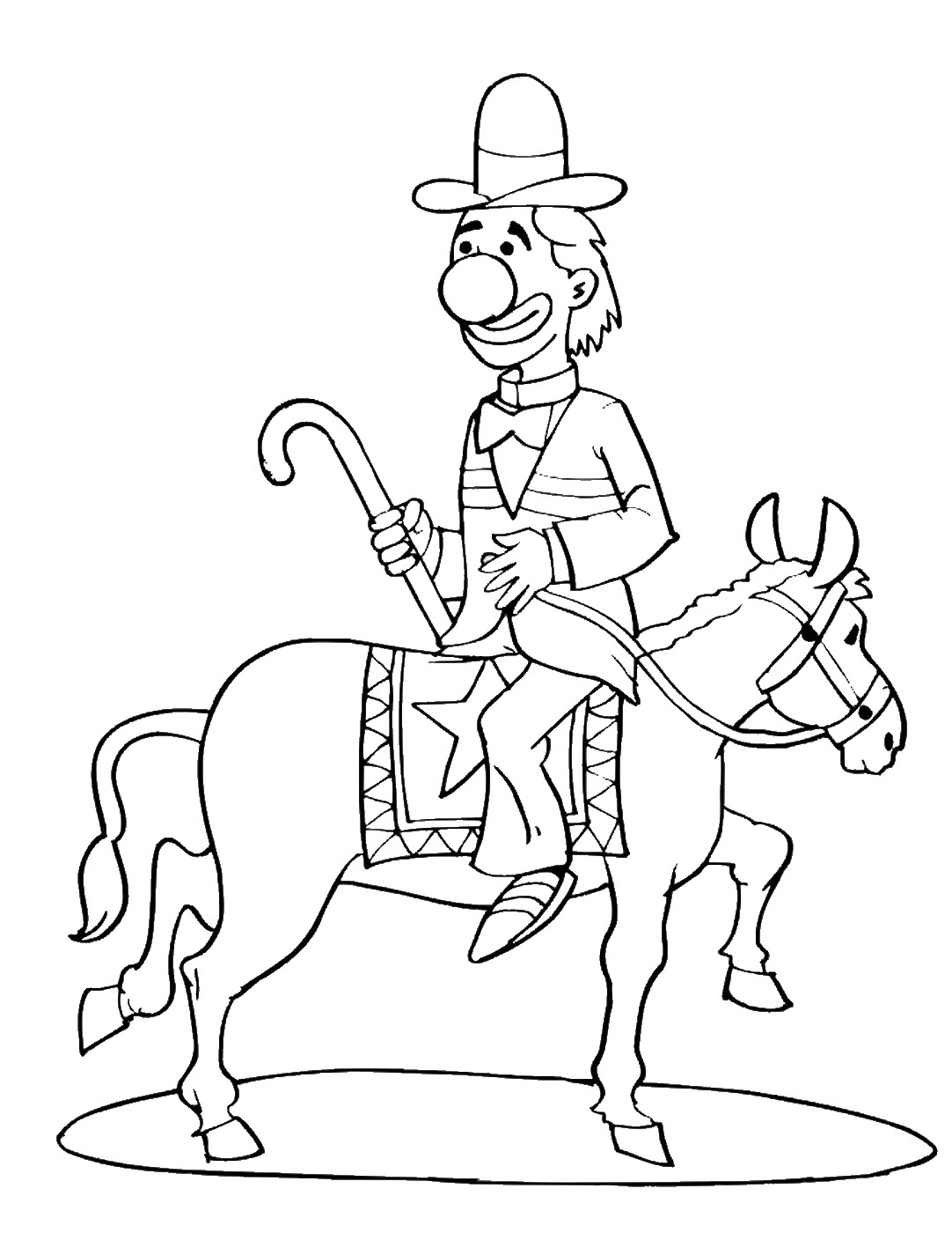 Circus Coloring Pages Birthday