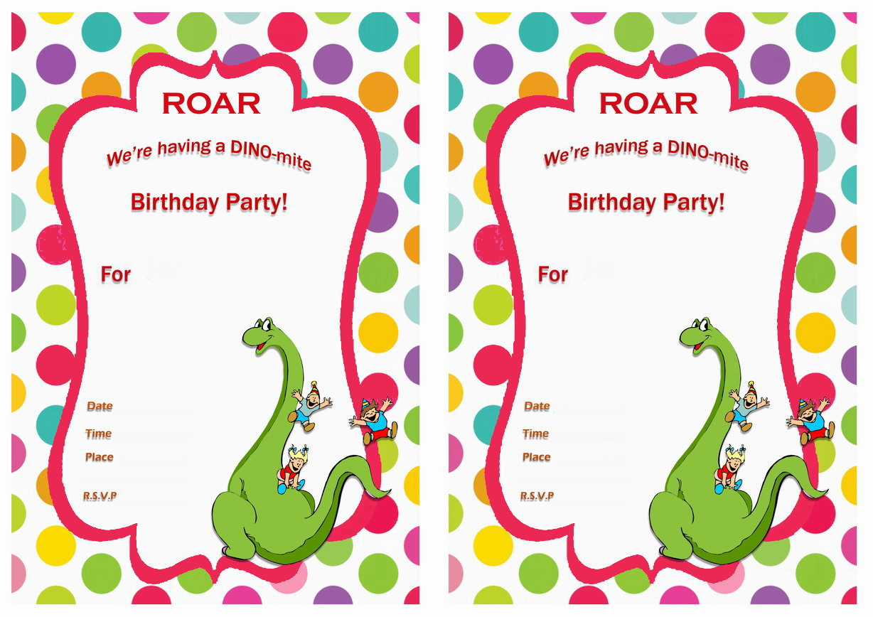 It's just a graphic of Eloquent Printable Dinosaur Birthday Invitations