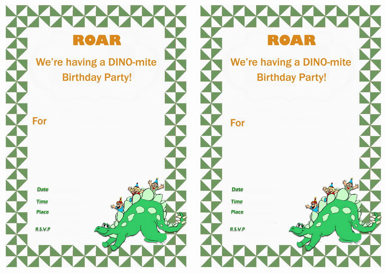 Dinosaur Birthday Invitations – Birthday Printable