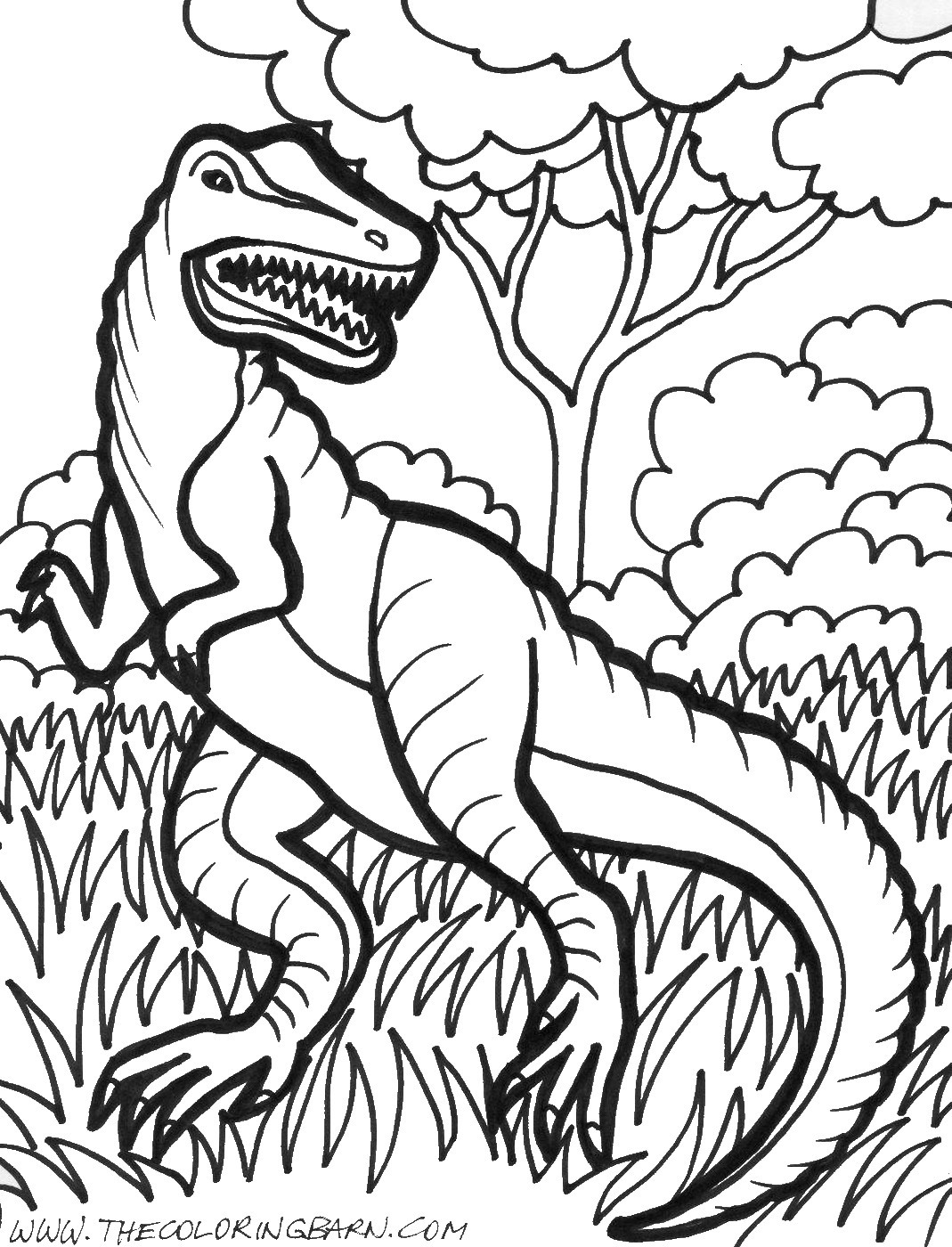 Dinosaur Coloring Pages | Birthday Printable