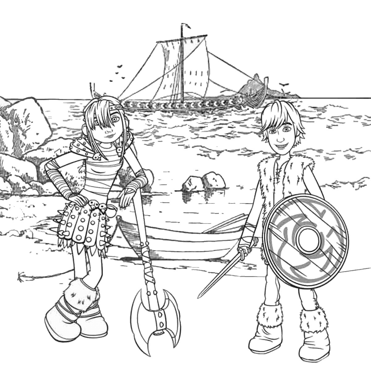 Free printable coloring pages how to train your dragon - How To Train Your Dragon Printable Coloring Pages